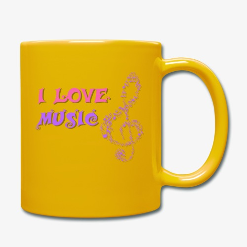 Love Music - Taza de un color