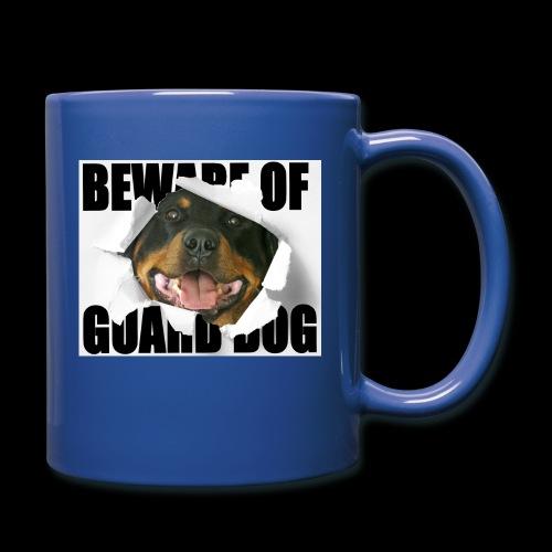 beware of guard dog - Full Colour Mug