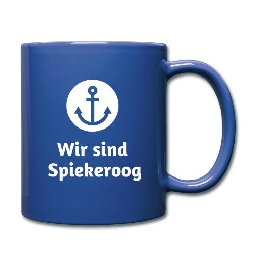 Wir sind Spiekeroog Logo weiss - Tasse einfarbig