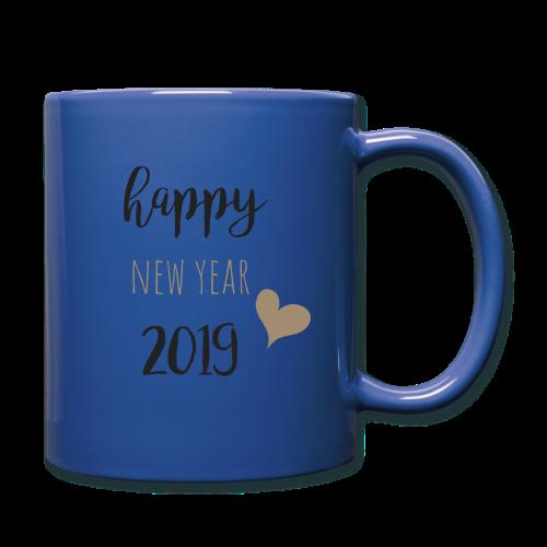 Happy New Year 2019 - Tasse einfarbig