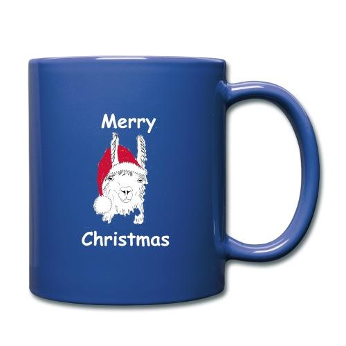 Weihnachtslama - Tasse einfarbig