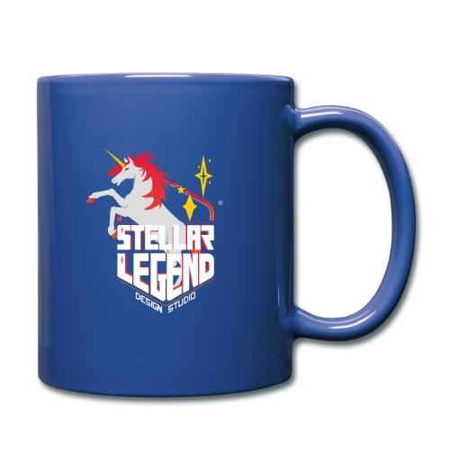 Stellar Legend desing studio text white - Mug uni