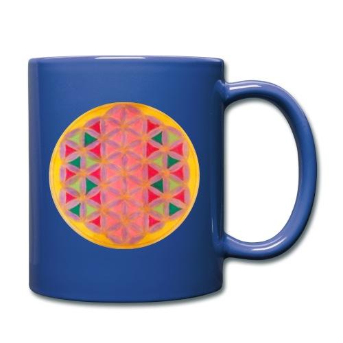 Blume des Lebens - Tasse einfarbig