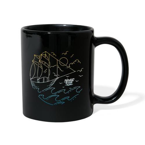 Schiff mit Sonne und Meer - Tasse einfarbig