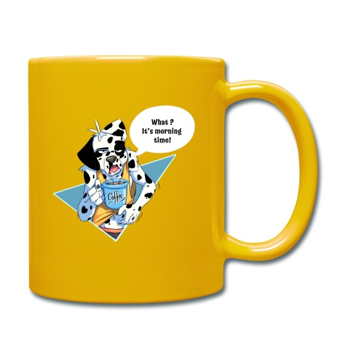 Dalmatian with his morning coffee - Full Colour Mug