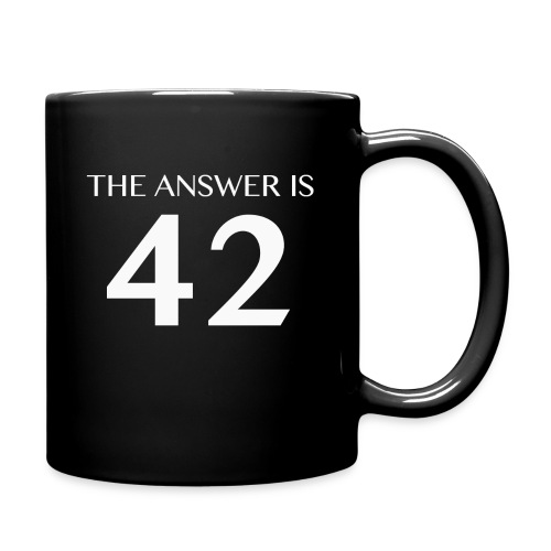 The Answer is 42 White - Full Colour Mug