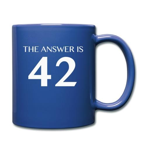 The Answer is 42 White - Full Colour Mug