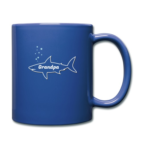 Grandpa shark - Fathers day gift - matching outfit - Tasse einfarbig