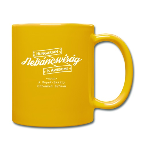 Nebáncsvirág - Hungarian is Awesome (white fonts) - Full Colour Mug