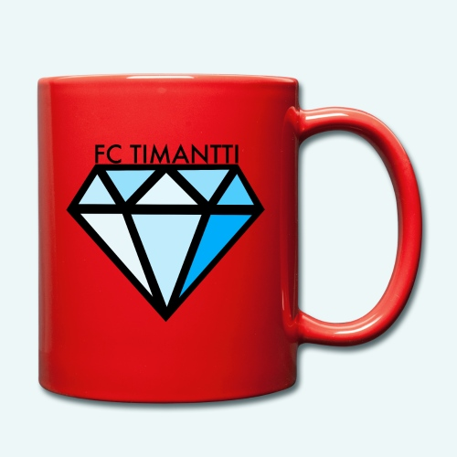 FC Timantti mustateksti - Yksivärinen muki