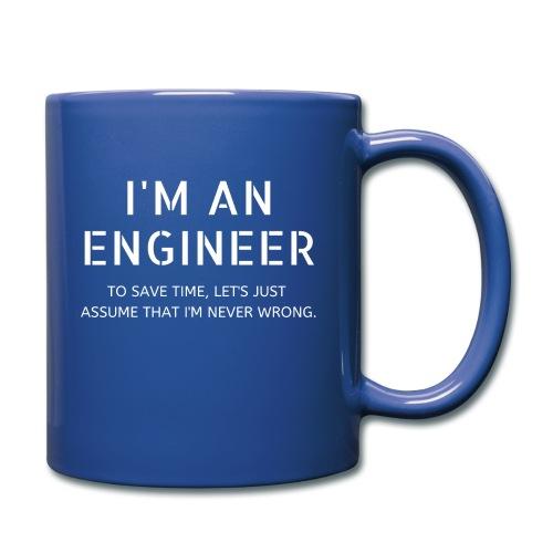 Ingeniør - Ensfarget kopp