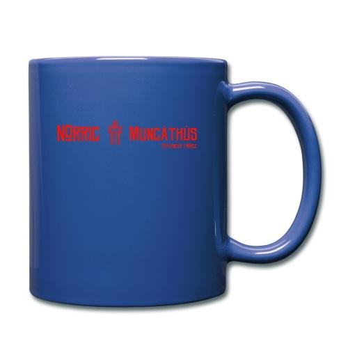 Rød logo, lang - Ensfarget kopp