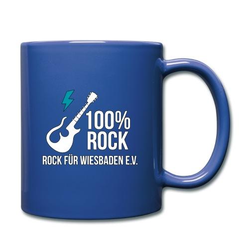 Offizielles Rock für Wiesbaden e.V. Design - Tasse einfarbig