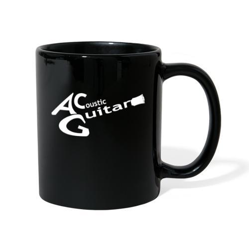 Acoustic Guitar Logo - White - Full Colour Mug