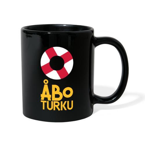 Livboj: Åbo (gul text) - Yksivärinen muki