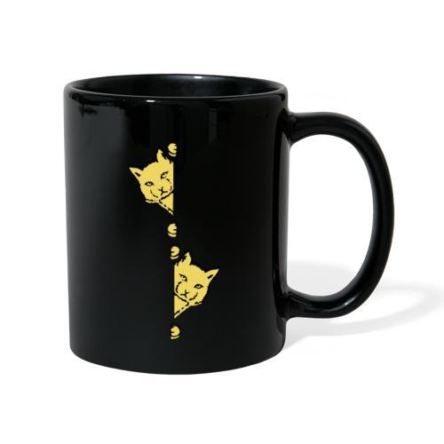 Två gula katter - Enfärgad mugg