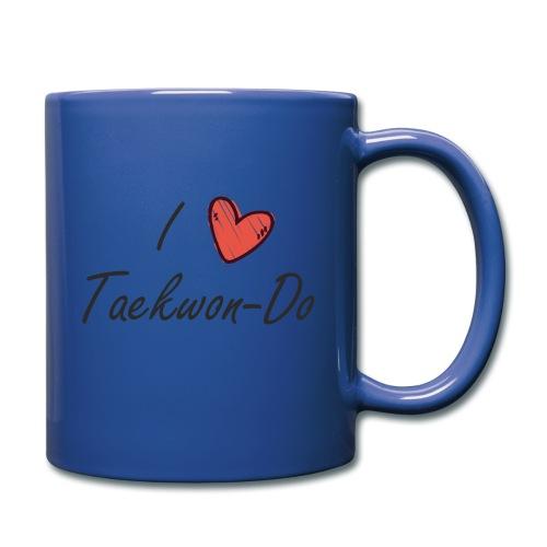 I love taekwondo letras negras - Taza de un color