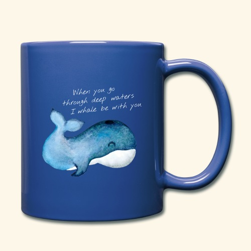 Whale deep waters - Tasse einfarbig