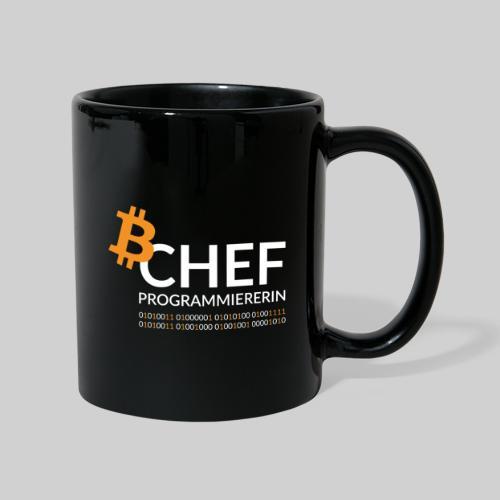 Chefprogrammiererin Dark - Tasse einfarbig