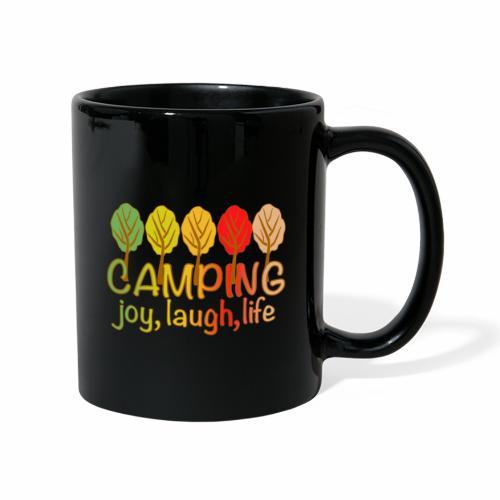 camping, joy, laugh, life - Tasse einfarbig