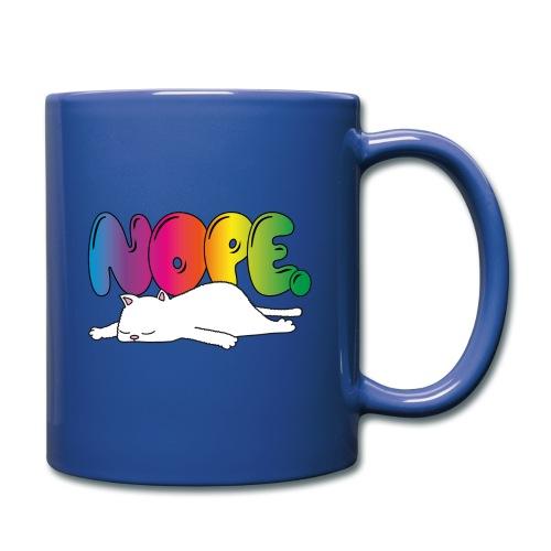 Tasse Nope Katze Lustiger Spruch Regenbogen - Tasse einfarbig