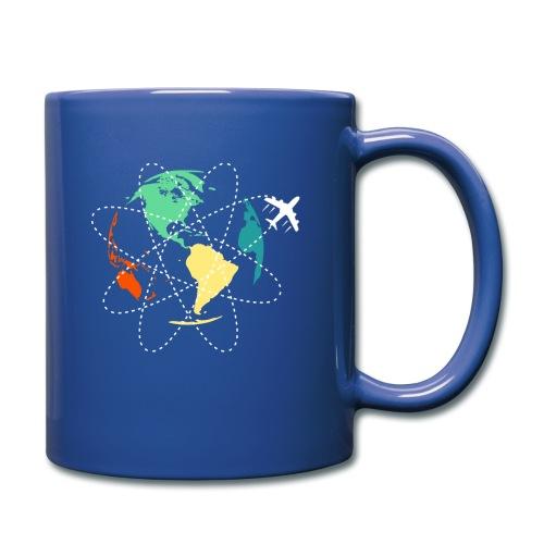 Reisen Weltreise Flugzeug Travelshirt Erde - Tasse einfarbig
