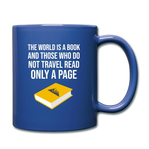 Reisen Weltreise Travelshirt Buch - Tasse einfarbig