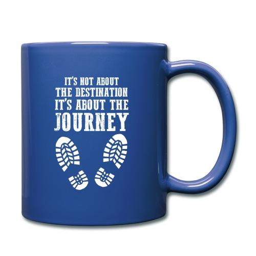 Reisen Weltreise Travelshirt Der weg ist das Ziel - Tasse einfarbig