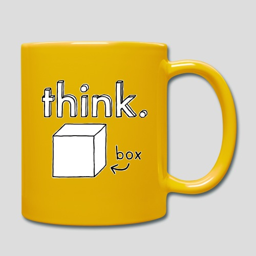 Think Outside The Box Illustration - Full Colour Mug
