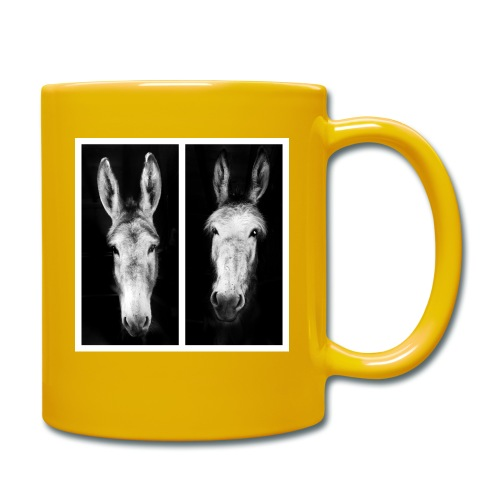Eselköpfe-Esel - Tasse einfarbig