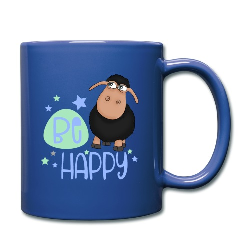 Schwarzes Schaf - Be happy Schaf - Glücksbringer - Tasse einfarbig