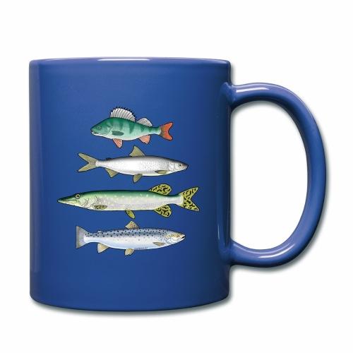 FOUR FISH - Ahven, siika, hauki ja taimen tuotteet - Yksivärinen muki