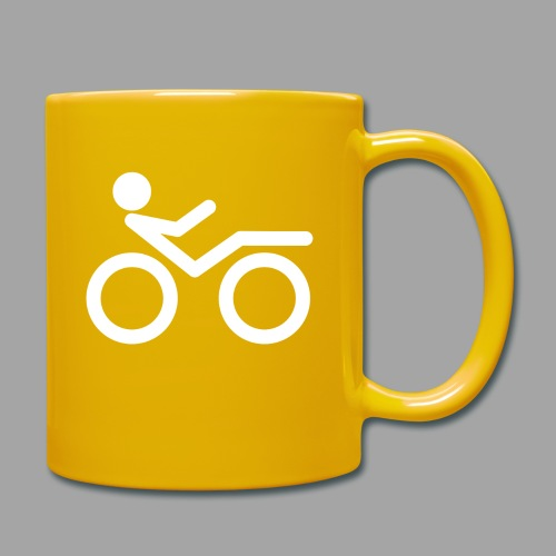 Recumbent bike white 2 - Yksivärinen muki