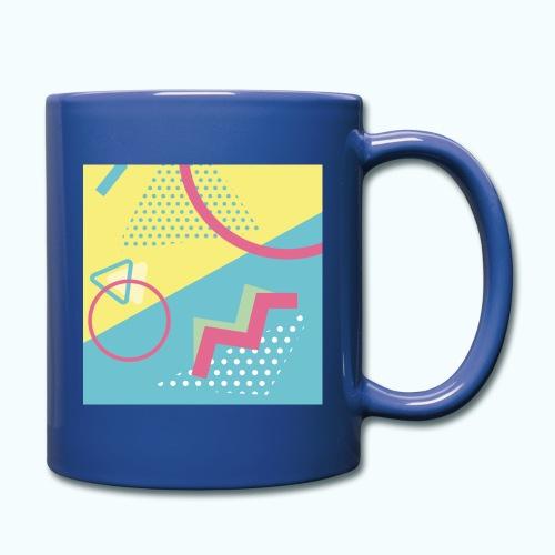 Pastel turquoise geometry - Full Colour Mug