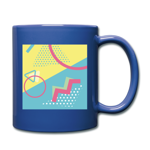 Pastel turquoise geometry - Full Colour Mug
