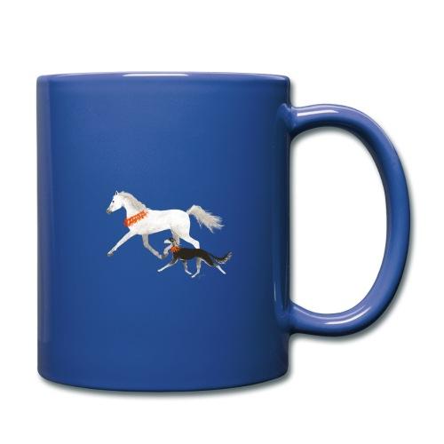 Saluki und Pferd - Tasse einfarbig