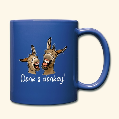 Ane Donk a donkey (texte blanc) - Mug uni