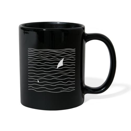 Windsurfer & Shark (white) - Tasse einfarbig