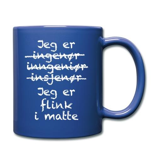 Flink i matte - Ensfarget kopp