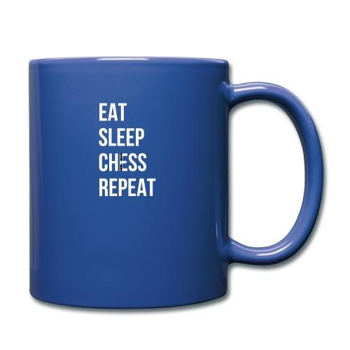 schachstratege eat sleep chess repeat - Tasse einfarbig