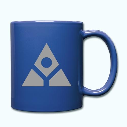 Sacred geometry gray pyramid circle in balance - Full Colour Mug