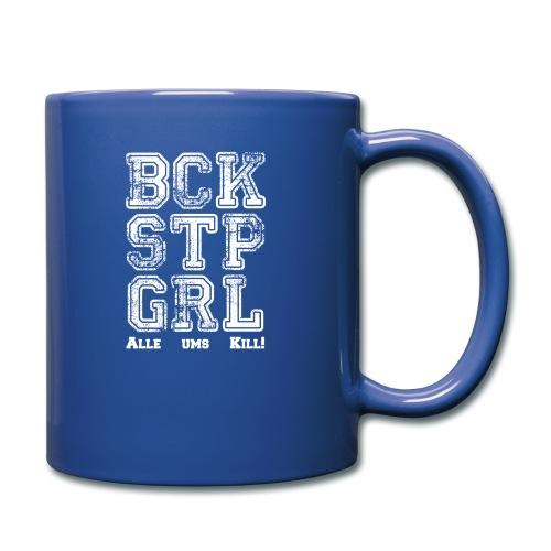 Backstop Girl - 3D Bogensport - Tasse einfarbig
