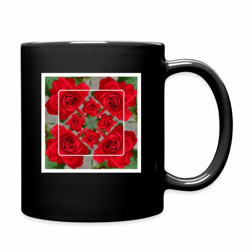 Rose Design - Tasse einfarbig