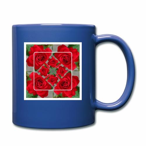 Rose Design - Tasse einfarbig