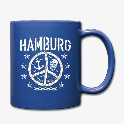 105 Hamburg Peace Anker Seil Koordinaten - Tasse einfarbig