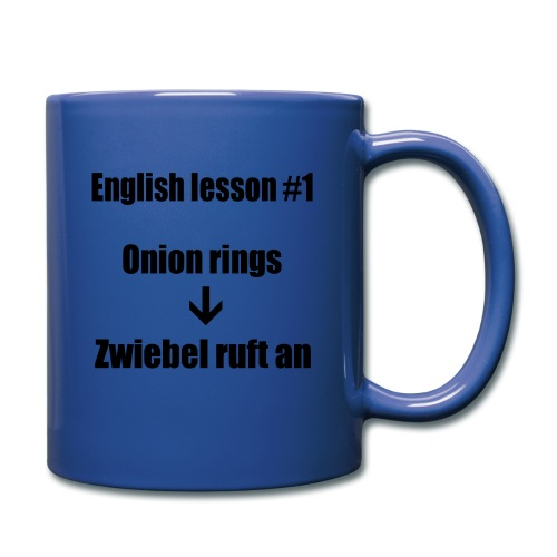 english lesson #1 - Tasse einfarbig