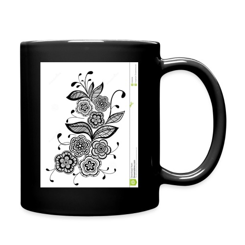 diseño de flores - Taza de un color