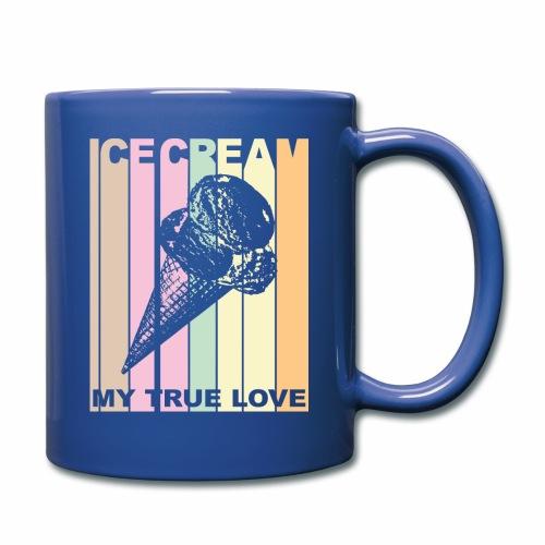 Ice Cream T-shirt Design im Vintage Look - Tasse einfarbig