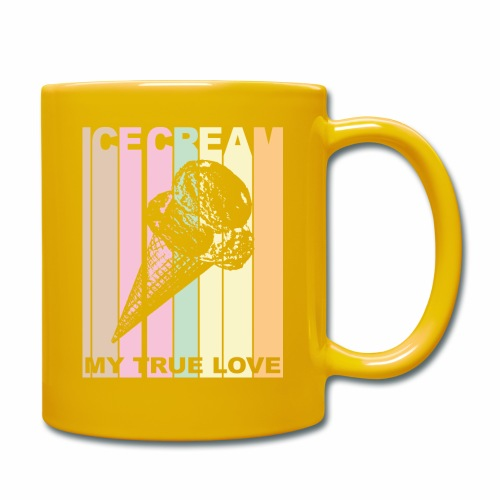 Ice Cream T-shirt Design im Vintage Look - Tasse einfarbig