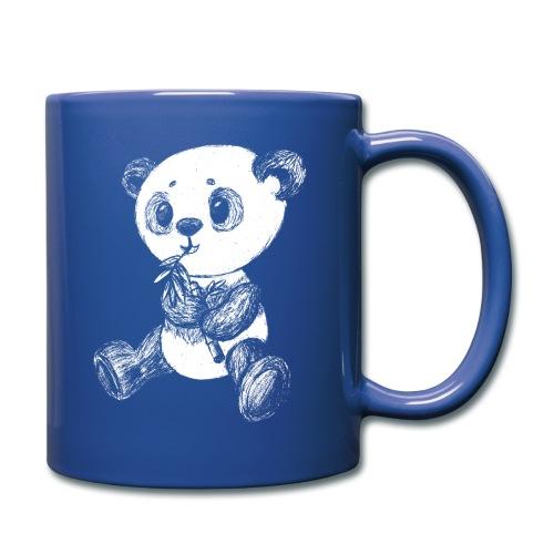 Panda Karhu valkoinen scribblesirii - Yksivärinen muki